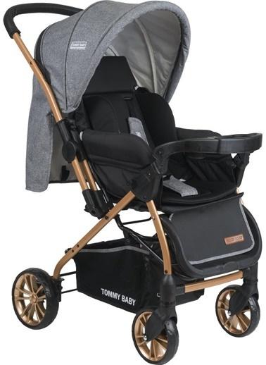 Tommy Baby Tb-980 Gold Çift Yön Lüx Bebek Arabası Puset Gri